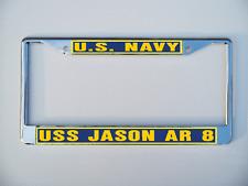 USS JASON AR 8 License Plate Frame U S Navy USN Military Car-Truck-Motorcycle