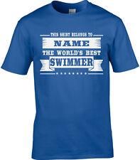 nageur hommes personnalisé T-shirt cadeau natation piscine eau sport drôle
