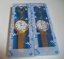 Designer Key style elegant keychain Gold and Silver finish fashion watch