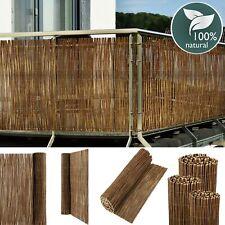 Weidenmatte 120 x 500 cm Weidenzaun Sichtschutz Windschutz EKO Weide Balkon Zaun