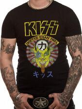 Oficial Kiss-más caliente que el infierno Japón Camiseta Negro