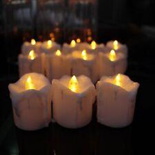 Fake LED Candle Flameless Flickering Plastic Timer Christmas Decorative Light