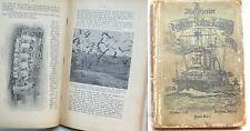 """Allemagne 14-18 """" Deutscher Flotten Illustrierter Kalender fur 1907 """" Livre 315p"""