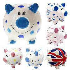 Kids Piggy Bank Ceramic Coin Money Saving Box Cash Storage Fund Christmas Gift