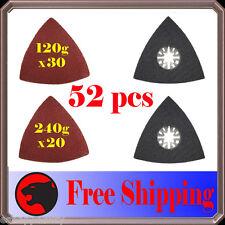 52 Pc Triangular Sanding Kit Oscillating Multi Tool Pad Fein Multimaster Bosch