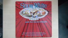 SNOW WHITE & SEVEN DWARFS Disneyland Records LP 1960