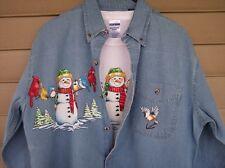Printed Snowman Denim  and Tshirt   Sizes/Colors