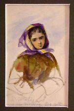 Continental Viaje cifras Hermosa Chica Maggiore Italia Elizabeth Howard 1865