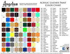2 Bottles Angelus Acrylic Leather Paint /Dye - Leather & Vinyl - 4 oz- Original