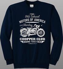 Old School Motorcycle Club Motorbike Sweatshirt Jumper Bike Harley Biker Chopper