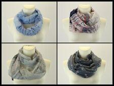 Maritim Anker blau grau weiß schwarz Schlauchschal Halstuch Schal Loop Tuch
