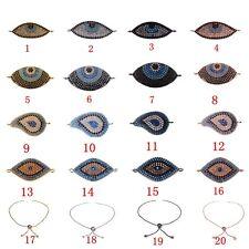 Colorful CZ Zircon Bracelet  Evil Eye Beads Charm Bracelet Braiding Jewelry