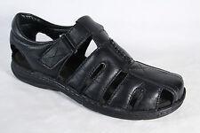 Manitu Herren Slipper Sneaker Leder schwarz, Klettverschluss  NEU