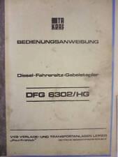 DDR FORK LIFT TRUCK Operating Instructions takraf Forklifts 6302 / HG VTA