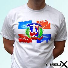 República Dominicana-Blanco T Shirt Top Diseño de la bandera-Para Hombre Mujer Niños Bebé Tamaños