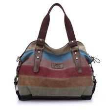 Fashion Womens' Canvas Cotton Patchwork Shoulder Messenger Bag Purse Daily Pack