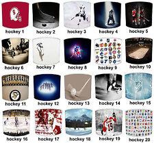 Lampshades Ideal To Match Ice Hockey Duvets, Ice Hockey Wallpaper & NHL Wall Art