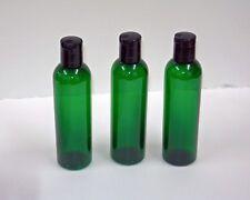 4 & 8  oz Green Cosmo PET Plastic Bottles w/cap U-Pick Color & Qty.  & Size
