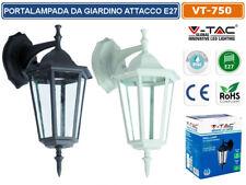 V-TAC VT-750 LAMPADA DA MURO APPLIQUE DA GIARDINO LANTERNA E27 ESTERNO IP44 VTAC