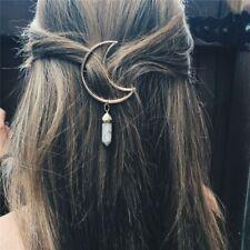 Hollow Pendant Hair Clip Barrette Hairpin Moon Shape