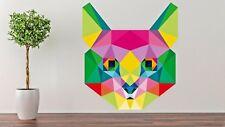 Origami Multicolor Cat Wall Decal Decor Vinyl Living Room Stickers J308