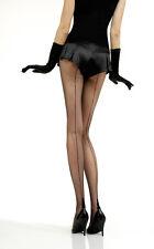 Jonathan Aston Vintage Legs Fishnet Backseam Tights Black Size A, B C