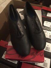 Capezio CG06 Women's Child Sizes Black & Tan Lace Up split sole TAP shoe sz3.5-9