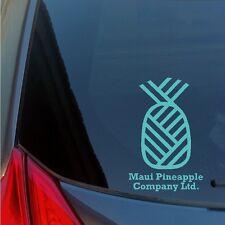 Maui Pineapple Company vinyl sticker decal Hawaiian Island Hawaii Aloha no ka oi