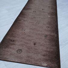 "velours modernes  Tapis "" AW GABBEH marron "" 67 cm de largeur ANTIDÉRAPANT"
