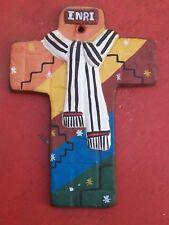 Handmade Clay Easter Drapery Cross - Peru