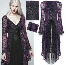 Robe dentelle soirée gothique lolita baroque velours corset PunkRave Violet