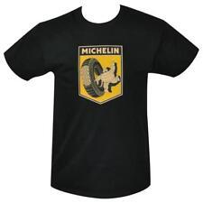 T Shirt Michelin retro advertising logo MENS BLACK ALL SIZES S TO 3XL New tires