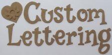 "1.5"" FUN SERIF Chipboard Letters - Custom Lettering Scrapbook Alphabets - 52 Pc"