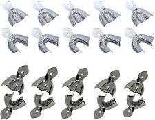 10 x Abdrucklöffel - Abformlöffel - Edelstahl - RIM LOCK - perforiert oder glatt