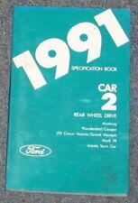 1991 Mustang Crown Vic Thunderbird + Spec Book Manual