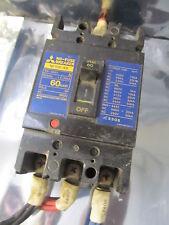 MITSUBISHI ELECTRIC NF100-SS 3 POLE 60 AMP NO FUSE CIRCUIT BREAKER