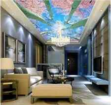3D Trunk Flowers Ceiling WallPaper Murals Wall Print Decal AJ WALLPAPER US