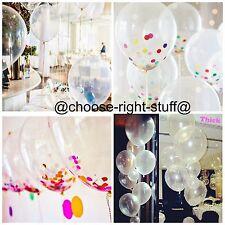 """12"""" Transparent Ballons & confettis De pâques Fête Célébration"""