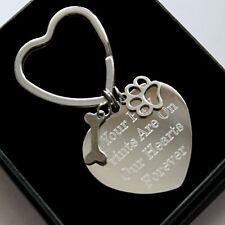 Personalised Pet Loss Keyring Any Engraving Remembrance Memorial Keepsake Gifts