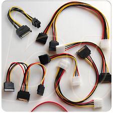 Cables adaptadores alimentación SATA, MOLEX varios modelos PC PCI Express power