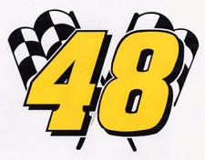 JIMMIE JOHNSON #48 Decal racing nascar Flag 004