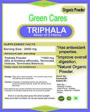 ORGANIC TRIPHALA MIXER OF THREE HERBS POWDER 100% PURE FROM INDIA