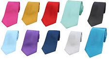 Luxury Plain Smooth Satin Silk Men's Ties