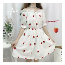 Women Girl Sweet Dress Kawaii Lolita Summer Princess Puff Sleeve Cute dress