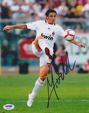 Massimo Oddo Signed 8x10 Photo Ac Milan *Rare* Psa/Dna Autographed
