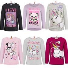 Girls Children Teenage Emoji Minions Long Sleeve T-shirt Tshirts Top Age 4-12