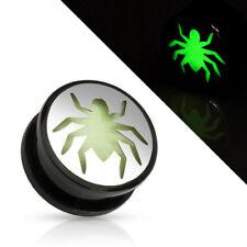 Flesh Tunnel Spinne Spider aus Kunststoff Leuchtet im dunkeln Glow in the Dark