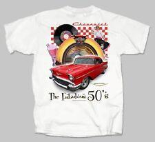 1957 Chevy & Music Jukebox Retro T-shirt  The Fabulous Fifties 50's GM Tee