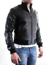 en Cuir 100% Veste Veste Homme Hommes cuir veste Blouson Homme cuir E8