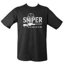 Camiseta francotirador fuera de la vista fuera de la mente para hombre S-2XL Ejército Sas Disparos Paintball